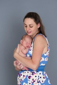 I love how well newborns just fit so perfectly against their mommy! They just melt right in :)