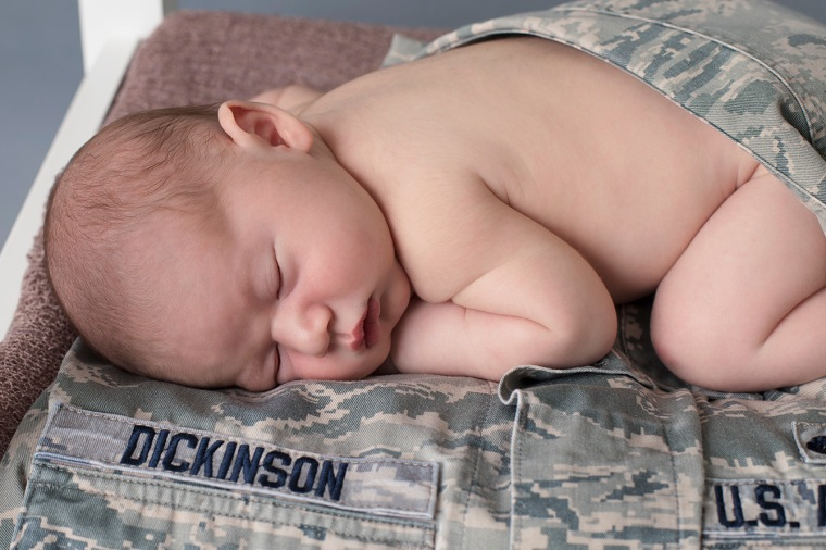 Of course we need to showcase him & his daddy's uniform!